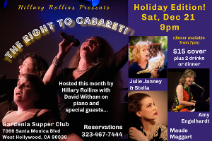 Hillary Rollins Presents MaryJo Mundy In THE RIGHT TO CABARET At The Gardenia Supper Club