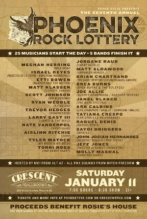 Phoenix Rock Lottery At Crescent Ballroom To Benefit Rosie's House