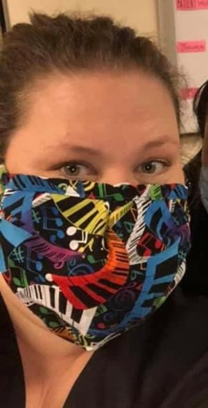 Main Street Theater Donates Fabric to Local Costume Designer Making Masks for Medical Workers