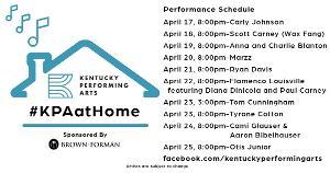 Kentucky Performing Arts Announces #KPAatHome Week Three Performances