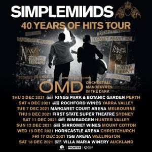 Simple Minds Announce Rescheduled Australian and New Zealand Dates For December 2021