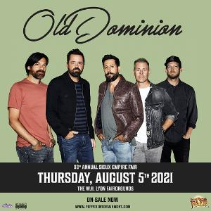 Old Dominion Rescheduled At The W.H. Lyon Fairgrounds