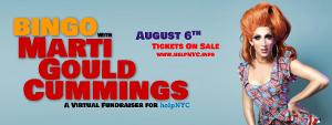 BINGO With Marti Gould Cummings, A Virtual Fundraiser For HelpNYC Announced