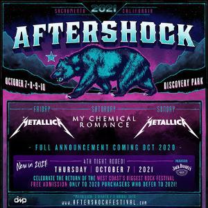 Aftershock Festival Rescheduled To October 7 - 10, 2021