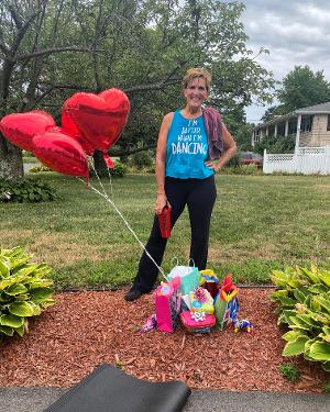 Darlene Zoller Celebrates 150th Consecutive Day Of 'Better When I'm Dancing' On Facebook Live