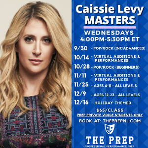 The Prep Welcomes Broadway's Caissie Levy To Teach Masterclasses This Fall