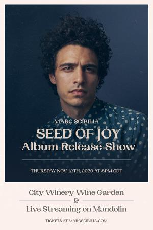 Marc Scibilia Announces Ticketed, Socially-Distanced Album Release Show & Livestream