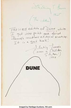 First Edition 'Dune' Owned And Annotated By The Editor Who 'Forced' Its Publication on Auction