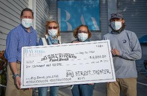 Bay Street Presents $6,000 Check To JBJ Soul Kitchen Food Bank