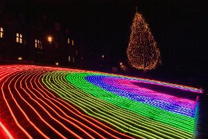 Edinburgh's Christmas Lights Up The Capital To Thank Key Workers