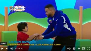 LA Rams' Aaron Donald Appears on Children's Show RYAN'S MYSTERY PLAYDATE