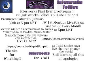 Julesworks Follies to Host #StayHomeSafe End Of Month Recap Livestream
