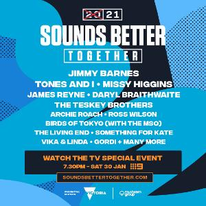 Visit Victoria And Mushroom Group Present 2021 SOUNDS BETTER TOGETHER A Celebration Of Live Music