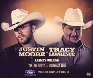 Justin Moore and Tracy Lawrence Come to the Ford Wyoming Center