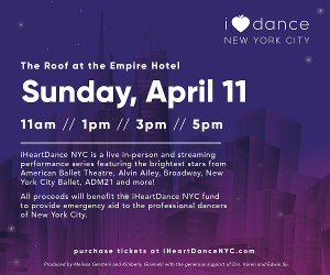 NYC Brightest Dance Stars in Live Rooftop Dance Series to Support iHeartDance Relief Fund