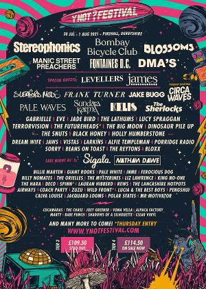 Stereophonics, Bombay Bicycle Club, Blossoms, Kelis and More Announced for Y NOT FESTIVAL 2021 LINE UP