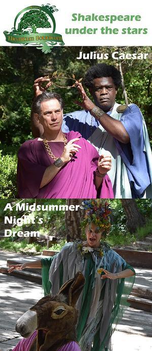 Theatricum Returns with Shakespeare's JULIUS CAESAR and A MIDSUMMER NIGHT'S DREAM