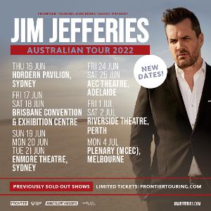 Jim Jefferies 2022 Rescheduled Tour Dates Announced