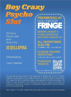 BOY CRAZY PSYCHO SLUT to Premiere at Hollywood Fringe