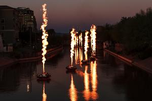 Fire Shows Return To Scottsdale Waterfront For Canal Convergence 2021