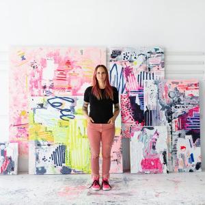 Abstract Artist Linda Colletta to Appear At Art Market Hamptons Fair