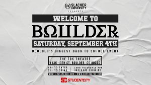 WELCOME TO BOULDER Announced This September at Fox Theatre