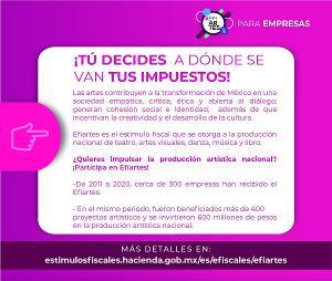 Continúa Proceso De Registro De Contribuyentes Aportantes A Proyectos Susceptibles De Recibir El Estímulo Fiscal Efiartes 2021
