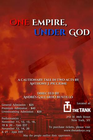 ONE EMPIRE, UNDER GOD Makes Live NYC Debut At The Tank in November