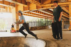 Skateboarders and Actors Present A SKATE PLAY in Local Skate Park