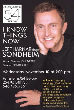 Jeff Harnar Sings Sondheim At Feinstein's/54 Below Next Month