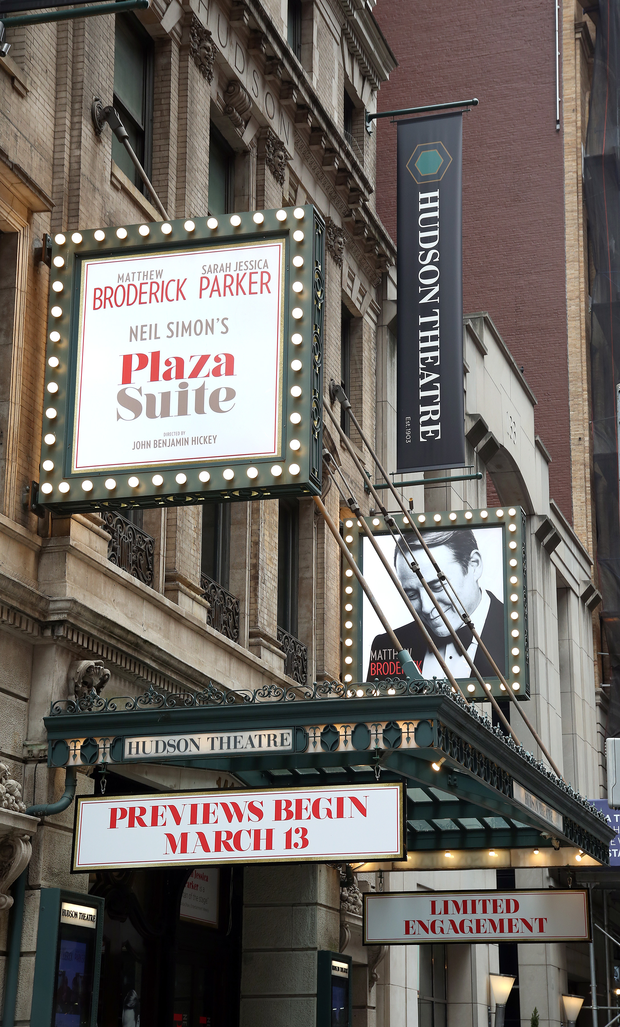 Hudson Theatre (Broadway) - Theater Information Marquee