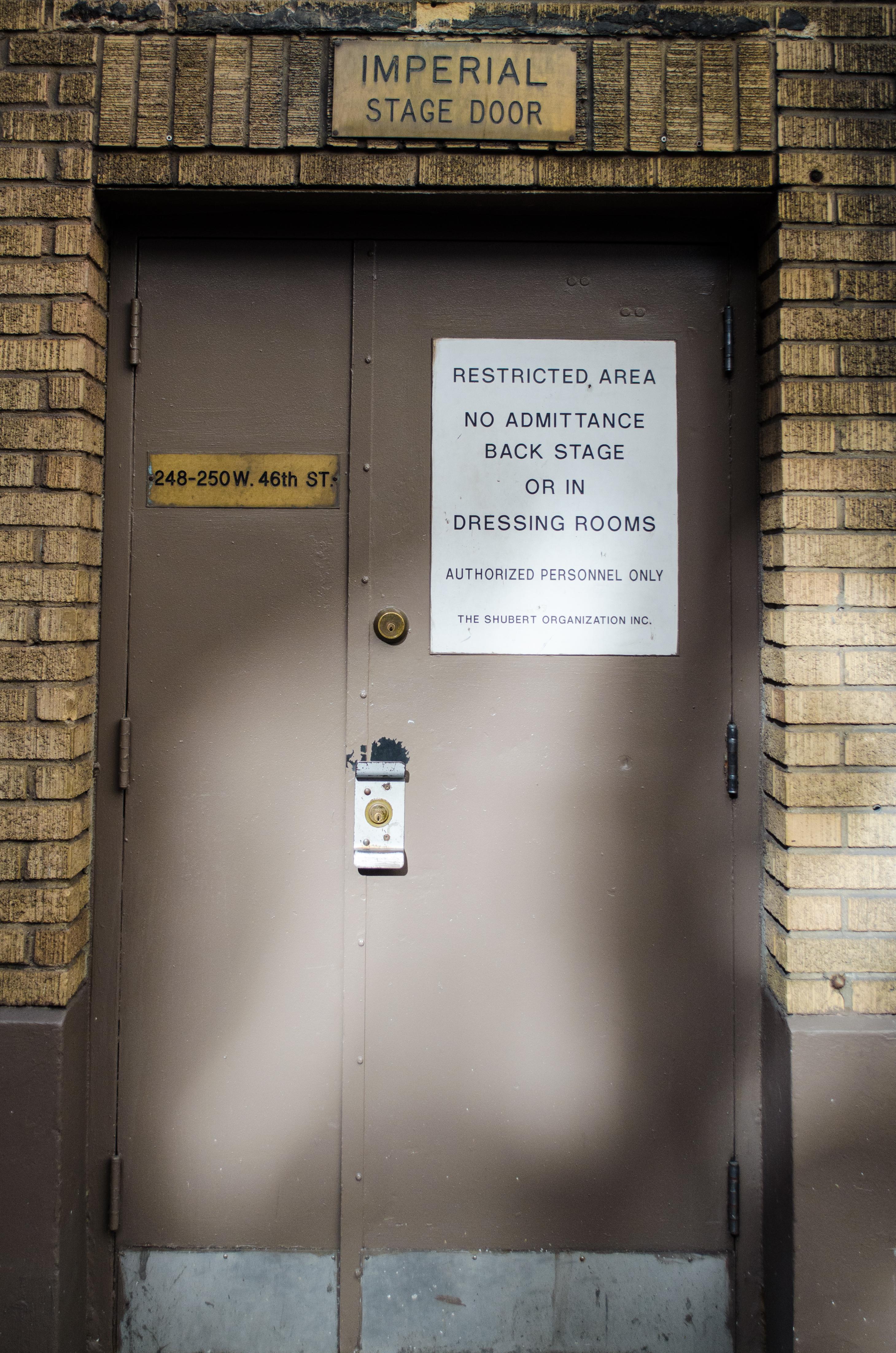 Imperial Theatre (Broadway) - Theater Information Stage Door