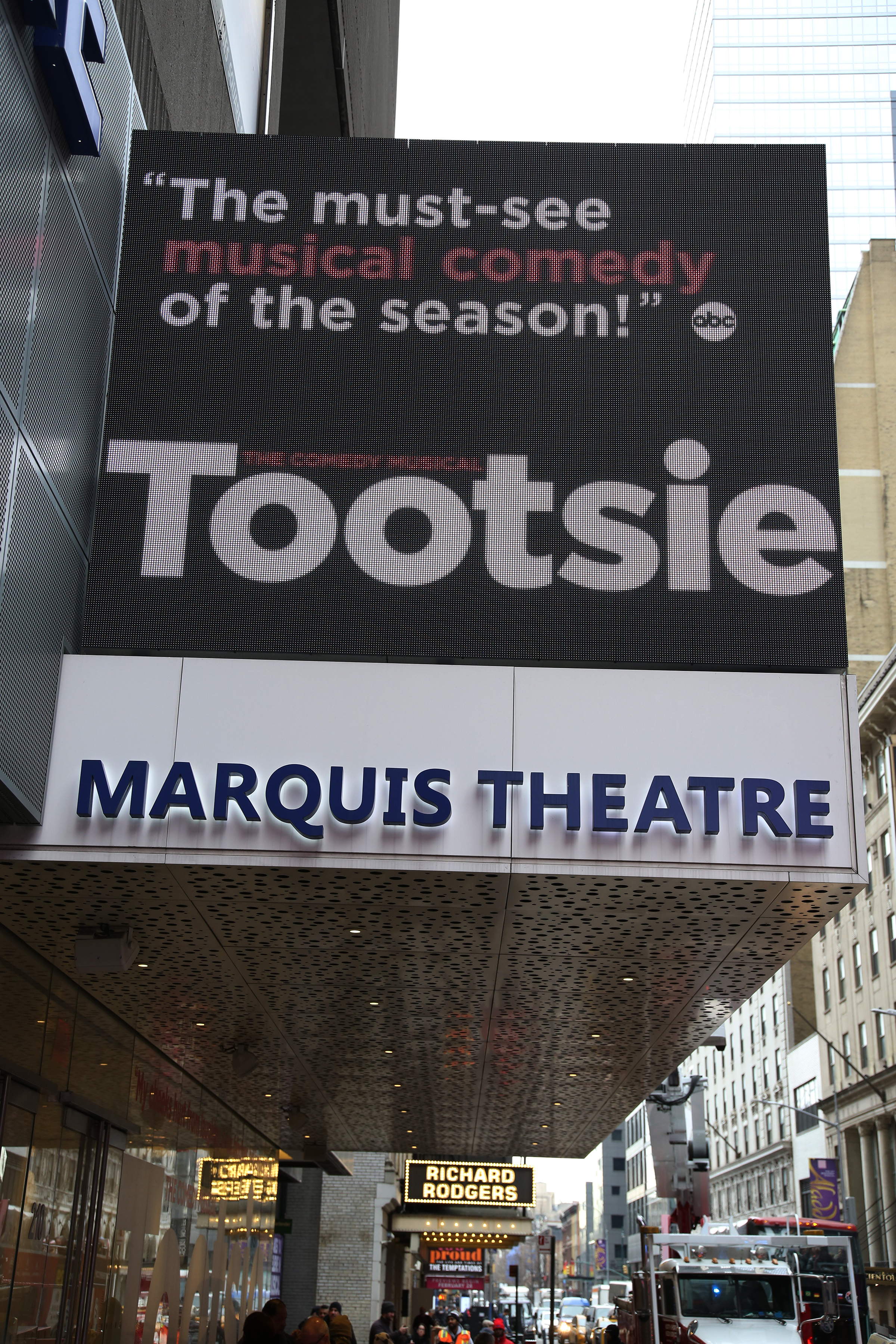 Marquis Theatre (Broadway) - Theater Information Marquee