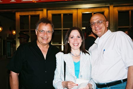 Randy Hansen, Alix Korey and Tom Viola (Executive Director, BCEFA) at Special Actors' Fund Performance of Doubt