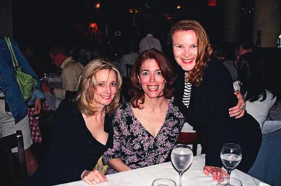 Heather Lee, Gayton Scott and Maureen Moore at Curtain Up for the Broadway Wall of Fame at Tony's DiNapoli Restaurant Times Square with Newest Honoree Bernadette Peters