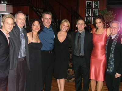 The full cast with writer Margulies