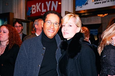 Bryant Gumbel and wife Hilary Quinlan  at Brooklyn, the Musical Opening Night