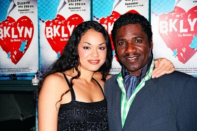 Karen Olivo and Cleavant Derricks at Brooklyn, the Musical Opening Night