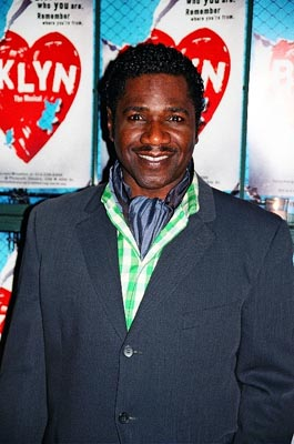 Cleavant Derricks (Street Singer) at Brooklyn, the Musical Opening Night
