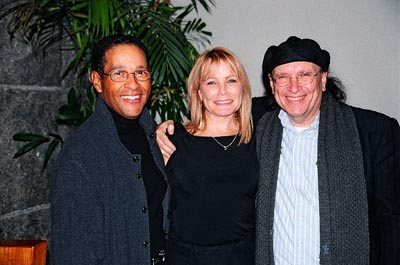 Bryant Gumbel, Barri McPherson and Mark Schoenfeld  at Brooklyn, the Musical Opening Night