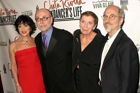 Chita Rivera, Mark Hummel, Graciella Danielle, and Jules Fisher at Opening Night Party for Chita Rivera: The Dancer's Life