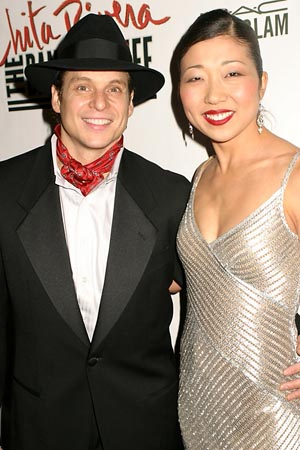Alex Sanchez and Lainie Sakakura at Opening Night Party for Chita Rivera: The Dancer's Life