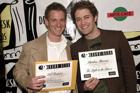 Bill Thompson and Matthew Morrison  at Drama Desk Award Cocktail Reception Part 2