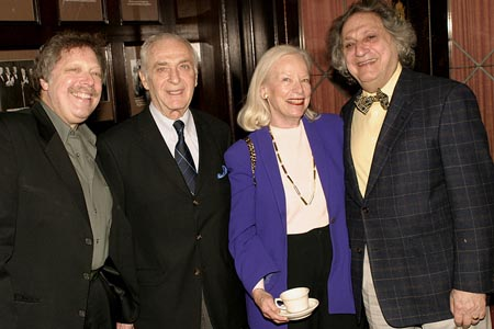 Robert R. Blume, Roy A. Somlyo (Executive Consultant), Julia Hansen, and William Wolf at Drama Desk Award Nominations Announced