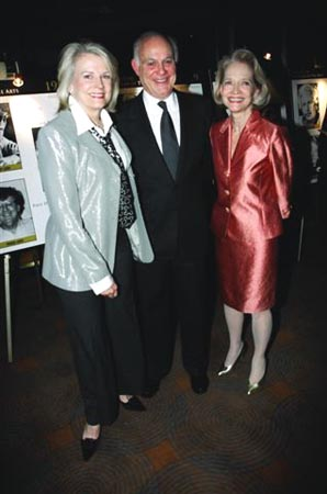 Candice Bergen with husband Marshall Rose and Executive Director Guild Hall Ruth Appelhof  at Guild Hall Honors Sheldon Harnick