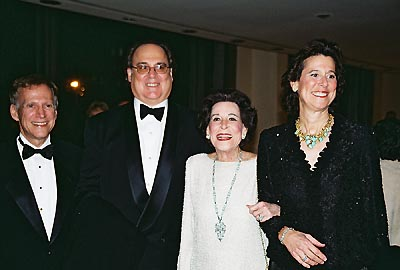 David Lewis, Christopher Hart, Kitty Carlisle Hart & Catherine Hart at Hart to Hart Gala