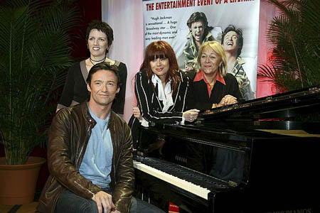 Hugh Jackman, Colleen Hewett, Angela Toohey and Chrissy Amplett at Hugh Jackman at Australian The Boy From Oz Press Conference