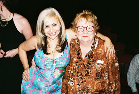 Penny Arcade and Constance Congdon at 2005 NY Off-Off-Broadway Innovative Theatre Awards