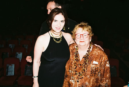 Erica Gould and Constance Congdon at 2005 NY Off-Off-Broadway Innovative Theatre Awards