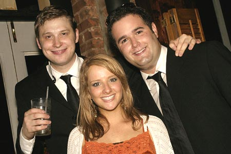 Winston Beigel, Melissa Rauch, and Tom Wojtunik (Director) at The Miss Education of Jenna Bush